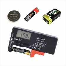 Battery Charger AA/AAA/C/D/9V/1.5V Universal Button Cell Battery Volt Tester C