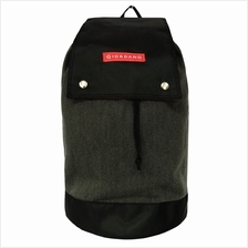 "Drawstring Backpack - Black/Black (18 "")"