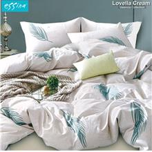 Essina Lovella Cream 100% Cotton 620TC Fitted Bedsheet Set)