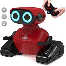 GILOBABY RC Robot Car, 2.4GHz Remote Control Robot Toy for Kids with Shine Eye
