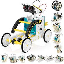 KIDWILL 13-in-1 Educational Solar Robot Kit for Kids, STEM Science Toy Solar P