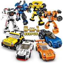 PANLOS STEM Robot Educational Learning Building Bricks Toy Model Cars Set Vehi