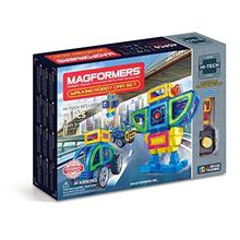 Magformers Walking Robot Car (45 Pieces) Set, Rainbow Magnetic Building Blocks