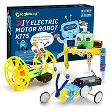 Giggleway Electric Motor Robotic Science Kits, DIY STEM Toys for kids, Buildin