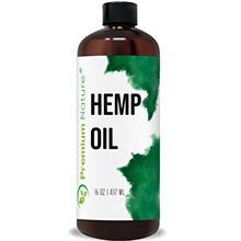 Organic Hemp Seed Carrier Oil - Pure, Unrefined, Natural Massage Oil Cold Pres