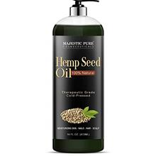 Majestic Pure Hemp Seed Oil, 100% Pure and Natural, Cold-Pressed, Moisturizing