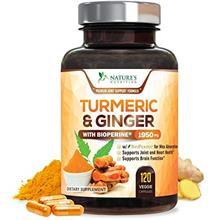 Turmeric Curcumin with BioPerine  & Ginger 95% Curcuminoids 1950mg - Black Pep