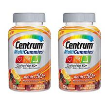 Centrum MultiGummies Adults 50+ Crafted for 50+ for Heart Brain and Bone Suppo