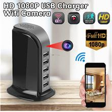 WiFi 1080P HD Wireless Hidden Camera Socket USB Charging Station