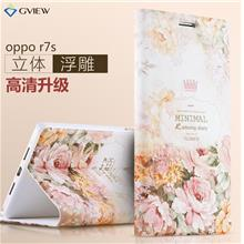 OPPO R7S R7 Lite Plus 3D Relief Flip Case Cover Casing + Free Gifts