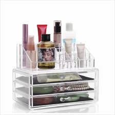 3-Drawer 3-Tier Layers Clear Acrylic Cosmetic Rack Organizer