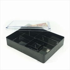 Japanese Bento Box 5 Compartments with Transparent Lid 270x212x65mm