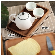 Solid wood serving tray japanese style platter food service 30x18cm