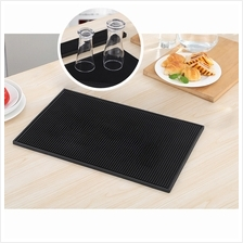 BIGSPOON Professional Rectangle Rubber Bar Service Spill Mat 45x30cm