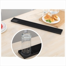 BIGSPOON Professional Rectangle Rubber Bar Service Spill Mat 60x8cm