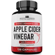 Organic Apple Cider Vinegar Capsules (120 Capsules | 1500 mg) with Prebiotics