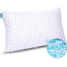 Shredded Memory Foam Pillows for Sleeping Cooling Bamboo Pillow with Adjustabl
