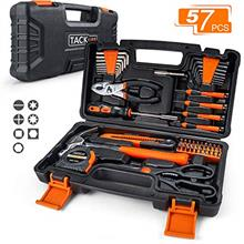 TACKLIFE 57-Piece Orange Home Tool Kit -Basic Household Repair Tool Kit for Ho