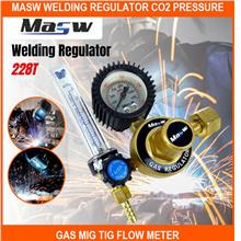 Masw Welding Regulator Co2 Pressure Gas Mig Tig Flow Meter Gauge Welde