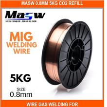 Masw 0.8mm 5kg Co2 Refill / Wire Gas Welding For Mig Mag - Aws.er70s-6