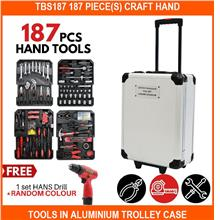 Tbs187 187 PIECE(s) Craft Hand Tools In Aluminium Trolley Case Tool Bo