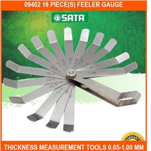 09402 16 PIECE(s) Feeler Gauge Thickness Measurement Tools 0.05-1.00 M