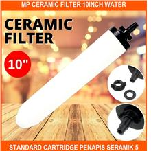 Mp Ceramic Filter 10inch Water Standard Cartridge Penapis Seramik 5 Mi