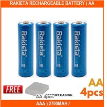 Rakieta Rechargeable Battery ( Aa / Aaa ) 2700mah / 1000ma - [AA 4PCS]
