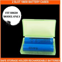 2 Slot 18650 Battery Cases -safe Storage Holder Rechargeable Batteries