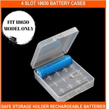 4 Slot 18650 Battery Cases -safe Storage Holder Rechargeable Batteries