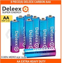 8 PIECE(s) Deleex Carbon Aaa / Aa Extra Heavy Duty Battery - [AA SIZE]