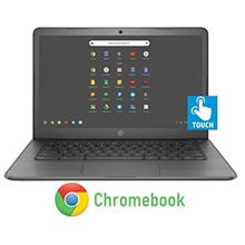 Newest HP 14-inch Chromebook HD Touchscreen Laptop PC (Intel Celeron N3350 up