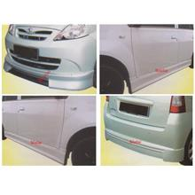 Perodua Viva WALD Full Set Body Kit [Front+ Side + Rear Skirt] [Fiber]