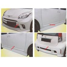 Perodua MYVI SE [Front + Rear Bumper + Side Skirt] Body Kit + SPOILER