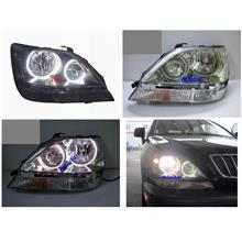 EAGLE EYES Harrier LEXUS RX300 '01-03 CCFL Ring Head Lamp Chrome
