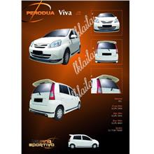 Perodua Viva SE Style Full Set Body Kit [Front+Side+Rear Skirt] [PU]