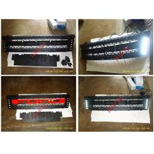 Ford Ranger V1 T6 Front Grille with LED [White / Red / Black Wording]