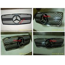 Mercedes Benz W210 '95-99 Front Grille Black-Chrome / All Chrome [Sing