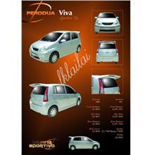 Perodua Viva Sportivo V2 Full Set Body Kit [Bumper + Skirt + Spoiler]