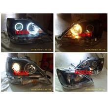 Toyota Harrier RX300 `98-02 CCFL Ring Projector Head Lamp Black
