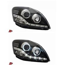 EAGLE EYES Toyota Vios '07 LED Ring Projector Head Lamp LED DRL R8