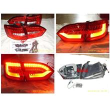 Volkswagen Jetta 12-13 LED Light Bar Tail Lamp [Red/Clear]