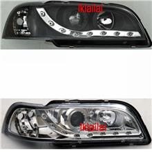 Volvo S40 Projector Head Lamp With Corner [DRL R8 Look] Black/Chromeg