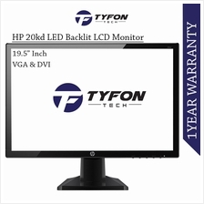 "HP 19.5 "" Inch Widescreen IPS LED Backlit LCD Monitor 20kd (Refurbished"