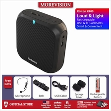 Rolton K400 USB Portable Microphone Loud Speaker Amplifier Megaphone