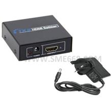 *HDMI^Splitter 1 In 2 Out with Powered Signal Amplifier