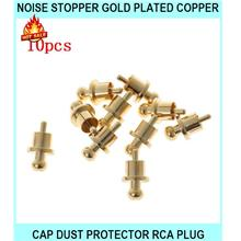Noise Stopper Gold Plated Copper Cap Dust Protector Rca Plug Caps