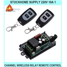 Stockhome Supply 220v 10a 1 Channel WIRELESS Relay Remote Control Swit