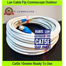Lan Cable Ftp Commscope Outdoor Cat5e 15meter Ready To Use F / Utp Whi