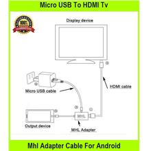 Micro USB To HDMI Tv Mhl Adapter Cable For Android Mobile Phone Max Fu